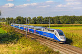 High-speed train Strasbourg - Paris, France — Stock Photo