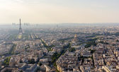 Panorama of Paris from Maine-Montparnasse Tower - France — Stock Photo