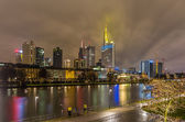Frankfurt am Main at night, Germany — Stock Photo