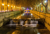 Quais de la Fontaine in Nimes, France — Stock Photo