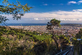 Ascent to Tibidabo mountain on funicular - Barcelona, Spain — Stock Photo