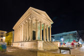 Maison Carree, a Roman temple in Nimes, France — Stock Photo