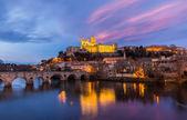 St. nazaire katedrála a pont vieux v beziers, francie — Stock fotografie