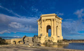 Water tower in the end of aqueduct in Montpellier, France — Stock Photo