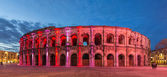 Roman amphitheatre - Arena of Nimes at evening - France, Langued — Stock Photo