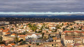 View of Carcassonne from the fortress - Languedoc, France — Stock Photo