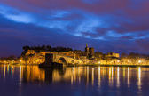 View of medieval town Avignon at morning, UNESCO world heritage — Foto Stock