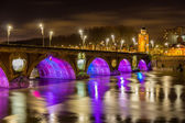 Night view of Pont Neuf in Toulouse - France — Stock Photo