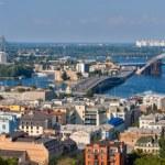 Panorama of Kiev with the Dnieper river - Ukraine — Stock Photo #49151679