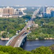 View of Left Bank of Dnieper in Kiev, Ukraine — Stock Photo #49151285