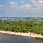 Panorama of Dnieper river in Kiev, Ukraine — Stock Photo #49151289