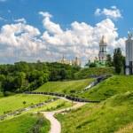 Kiev Pechersk Lavra Orthodox Monastery and Memorial to famine (h — Stock Photo #49151339