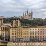 Cathedrale Saint Jean and Basilique Notre Dame de Fourviere in L — Stock Photo #49152469