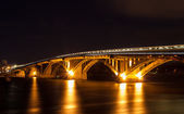 Metro bridge over the Dnieper river in Kiev, Ukraine — Stock Photo
