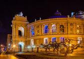 Odessa Opera and Ballet Theater at night. Ukraine — Stock Photo