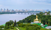 View of the Dnieper from Kiev Pechersk Lavra - Ukraine — Stock Photo