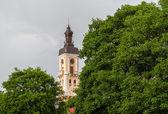 Tower of Kamianets-Podilskyi town hall. Ukraine — Stock Photo