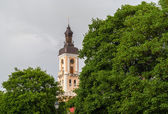 Tower of Kamianets-Podilskyi town hall. Ukraine — Stock Photo