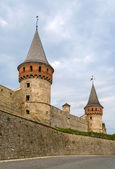 Towers of Kamianets-Podilskyi Castle, Ukraine — Stock Photo