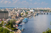 View of Kiev from an observation point over the Dnieper. Ukraine — Stock Photo