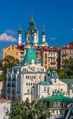 View of St Andrew's Church - Kyiv, Ukraine — Stock Photo