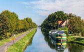Rhone - Rhine Canal in Alsace, France — Stock Photo