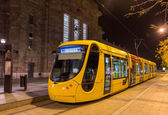 Modern tram on central station of Mulhouse - France — 图库照片