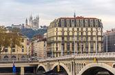 View of Basilique Notre Dame de Fourviere in Lyon — Stock Photo