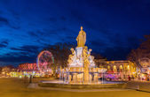Fontaine Pradier in Nimes - France, Languedoc-Roussillon — Stock Photo