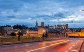 Vista da cidade medieval de avignon na manhã, Património Mundial da unesco — Fotografia Stock