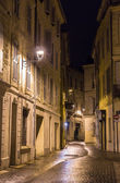 A street in night Avignon - France — Foto Stock