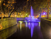 Jardins de la Fontaine in Nimes at night - France, Languedoc-Rou — Stock Photo