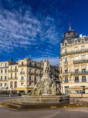 Fontaine des Trois Graces on place de la Comedie in Montpellier, — Stock Photo