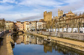 Canal de la Robine in Narbonne,  Languedoc-Roussillon - France — Stock Photo