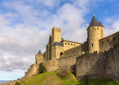 Carcassonne town walls - France, Languedoc-Roussillon — Stock Photo