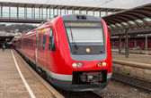 Suburban diesel train at Ulm railway station. Germany — Stock Photo