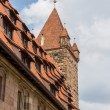 Roof of Nuremberg castle in Bavaria, Germany — Stock Photo