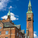 Tower of Copenhagen City Hall - Denmark — Stock Photo #49179241