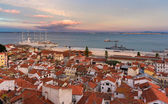 View of the River Tagus in Lisbon, Portugal — Stock Photo