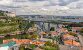 Maria Pia Bridge in Porto, constructed by Eiffel — Stock Photo