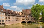 Heilig-Geist-Spital in Nuremberg, Bavaria, Germany — Stock Photo