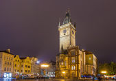 Prague town hall on spring night - Cheque — Stock Photo