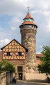 A tower in Nuremberg Castle - Germany, Bavaria — Stock Photo
