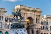Vittorio Emanuele II Statue in Milan — Stock Photo