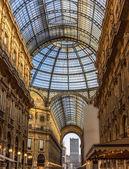 Galleria Vittorio Emanuele II in Milan, Italy — Stock Photo