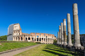 View of Colosseum from Temple of Venus and Roma — Stock Photo