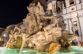 Fontana dei Quattro Fiumi in Rome, Italy — Stock Photo
