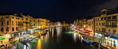 Night view of Canal Grande in Venice — Stock Photo