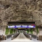 Travolators in Fridhemsplan metro station, Stockholm, Sweden — Stock Photo #49180143
