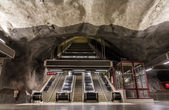 Interior of Stadshagen station, Stockholm metro — Stock Photo